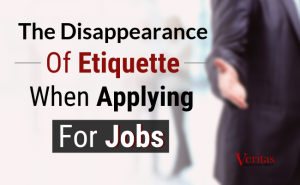 The Disappearance of Etiquette When Applying for Jobs